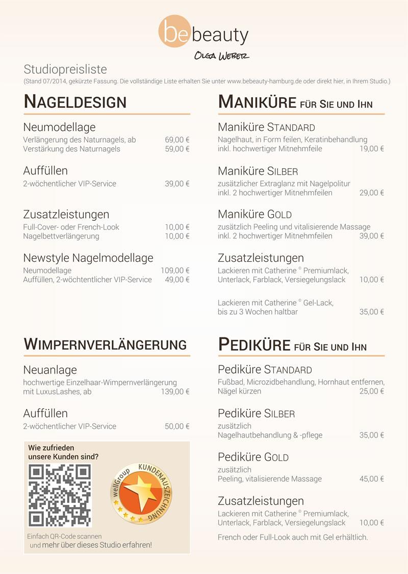 Ausgezeichnet Salon Preisliste Vorlage Galerie - Entry Level Resume ...